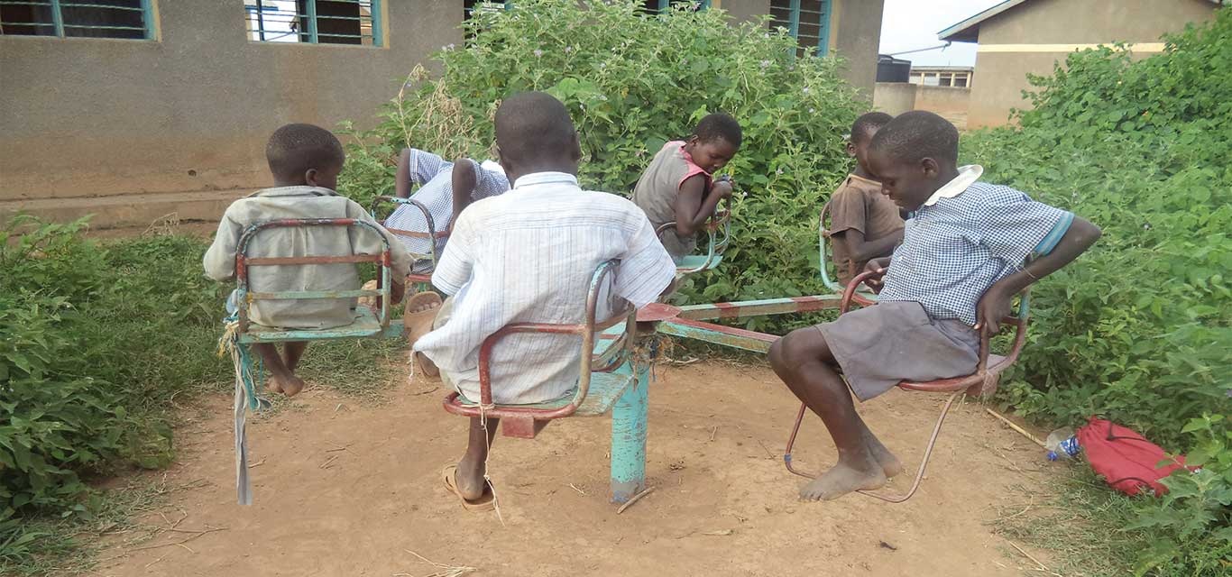 Pupils of Kisima Two Primary School on the Islands- exercing their right to Play-IBAPE Project