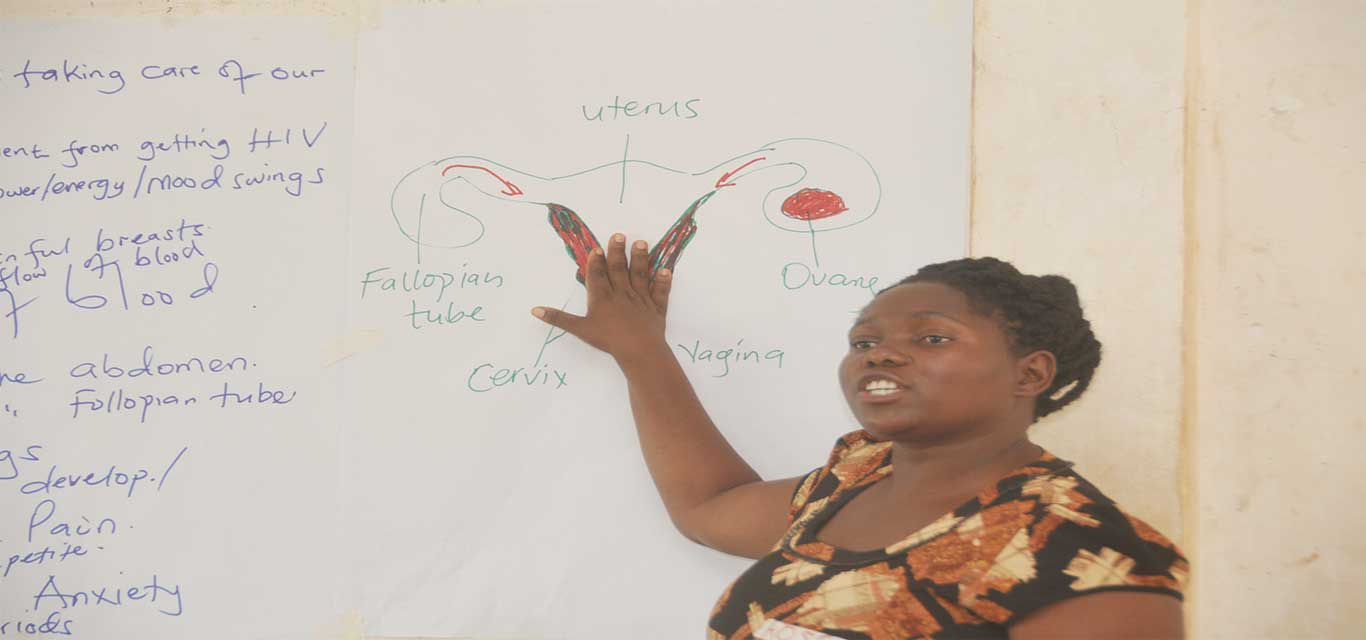 Training young mothers in reusable pads making and marketing skills
