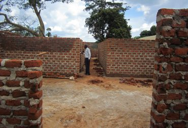 maternity ward and patient waiting shelter construction by NEMACY Uganda